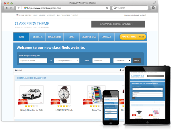 Responsive Classifieds Theme