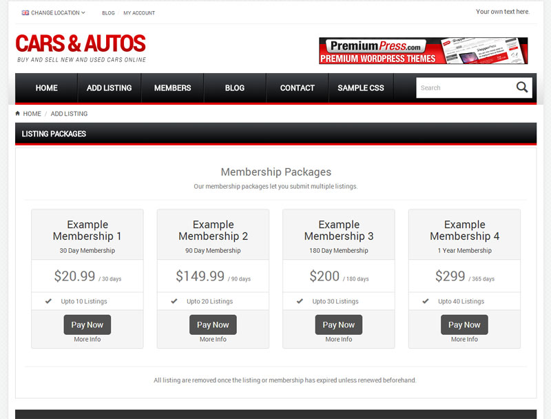Membership packages ideal for car dealers