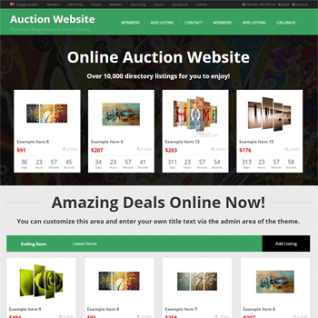 auction theme