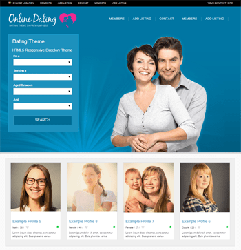 default dating theme