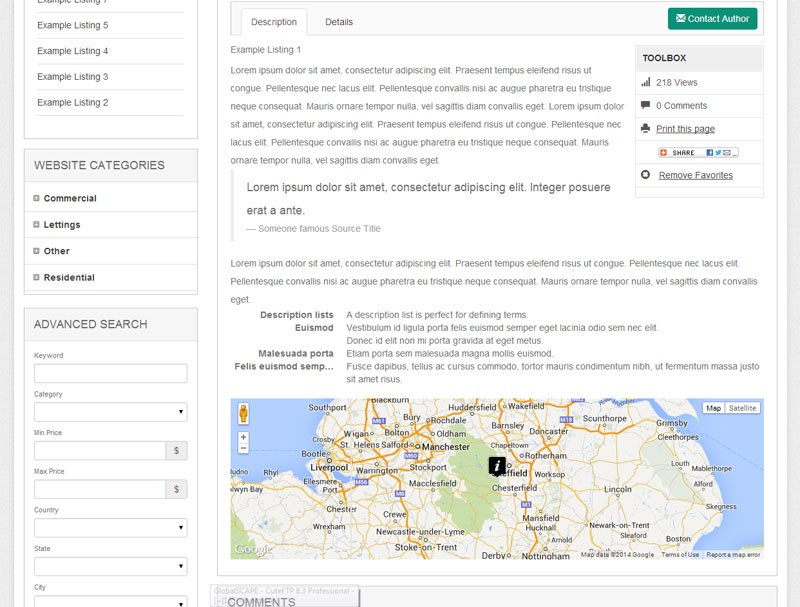 Google Maps & Contact Forms