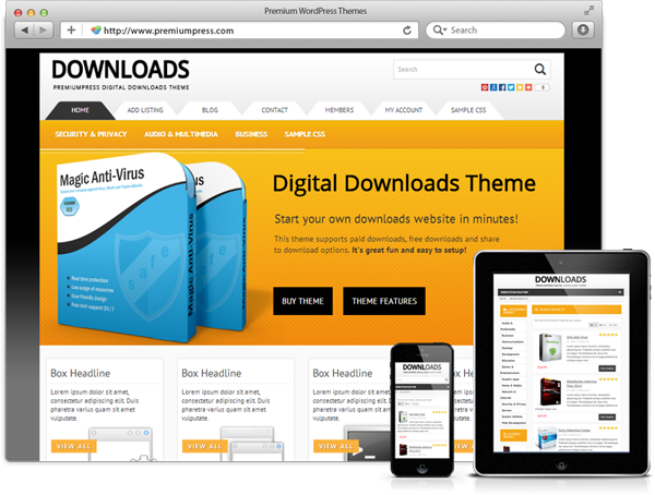 WordPress Downloads Theme