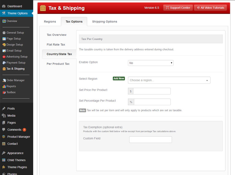 Tax and Shipping