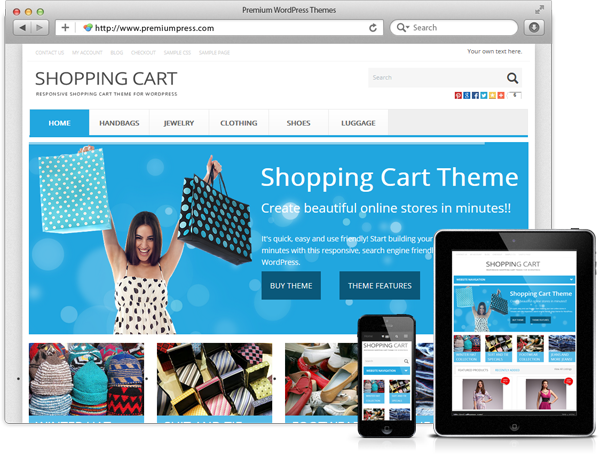 shopping cart theme