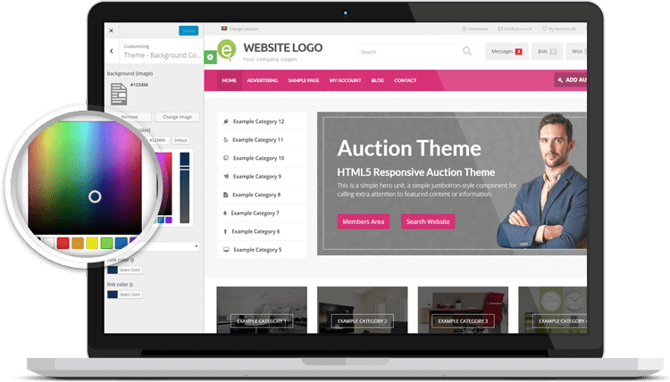 auction themes