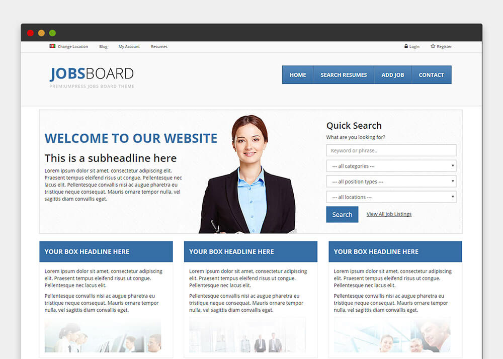 WordPress JobBoard Theme