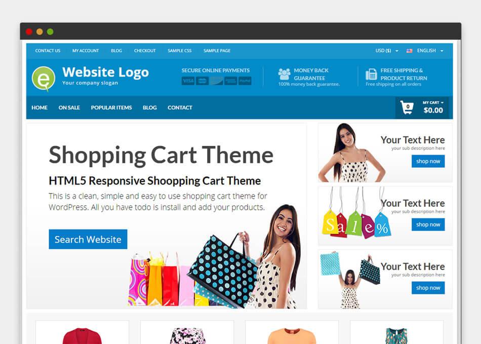 WordPress Shopping Cart Theme