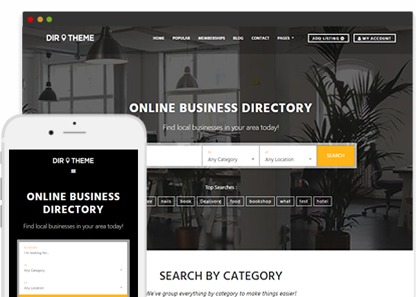WordPress Directory Theme