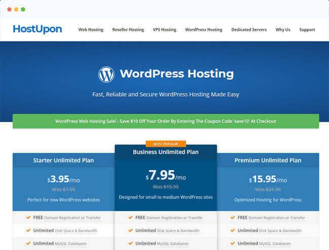 host upon website hosting