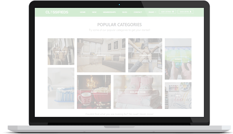 Classifieds Theme Introduction