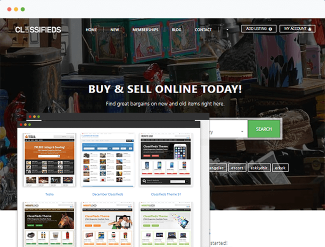 Classifieds Theme