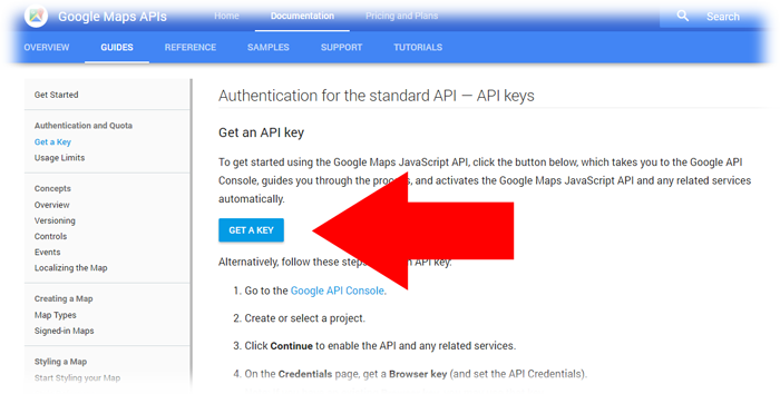How to setup a Google Maps API Key for WordPress