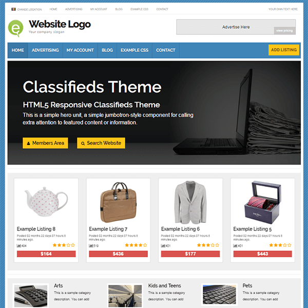 Classifieds Theme Demo - Free Trial Today