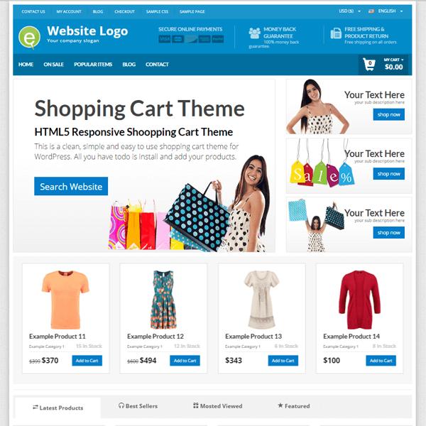 shop theme layout