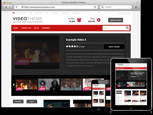 PremiumPress Responsive Video Theme v8.4