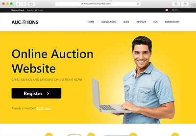 Auction Theme for WordPress