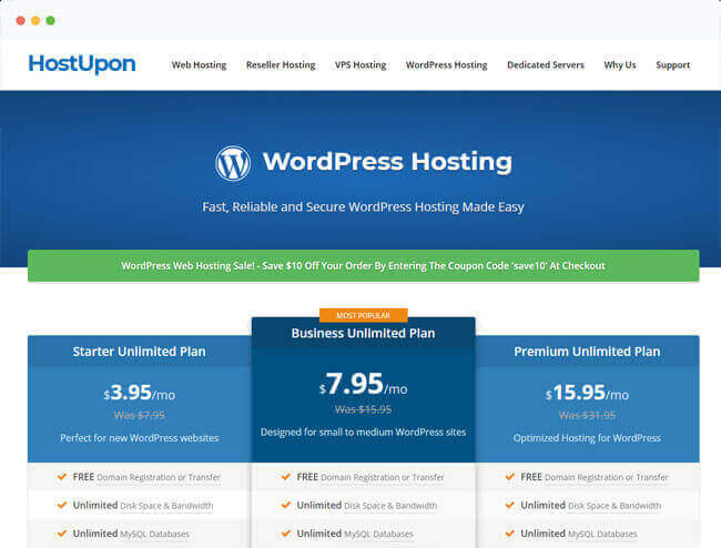 host upon website hosting