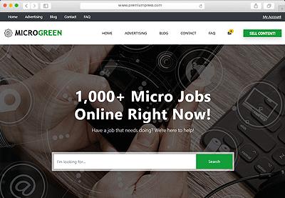 #1 Micro Jobs Theme for WordPress