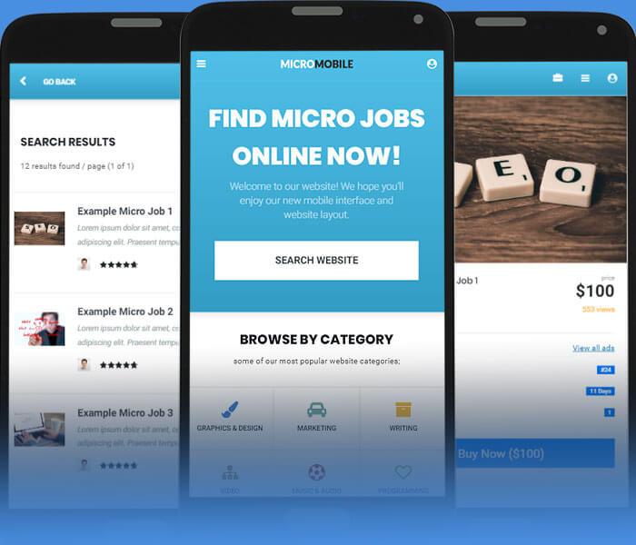 micro jobs mobile design