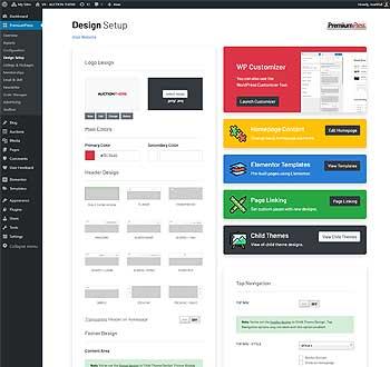 Directory Theme admin demo
