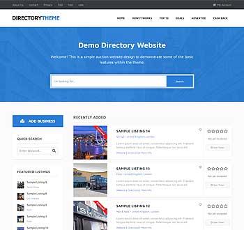Directory Theme live demo