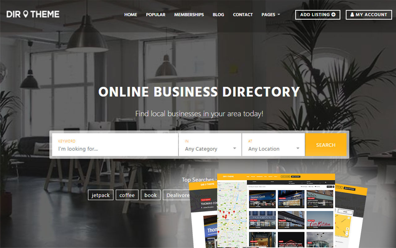 new directory theme for WordPress