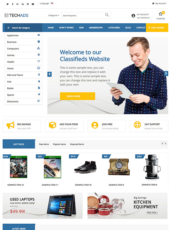 Classifieds – BlueAds