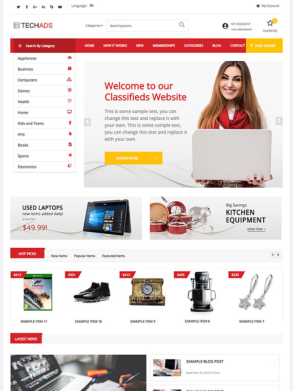 Classifieds – RedAds