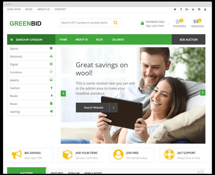 Auction – GreenBid demo