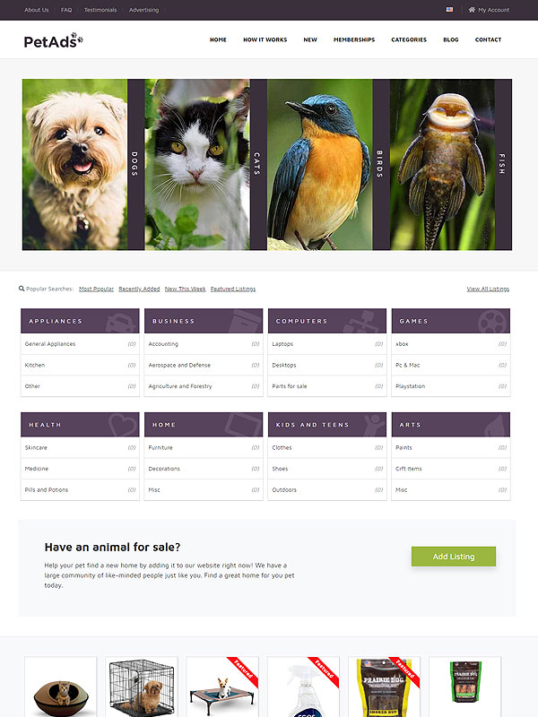 Classifieds – Pets