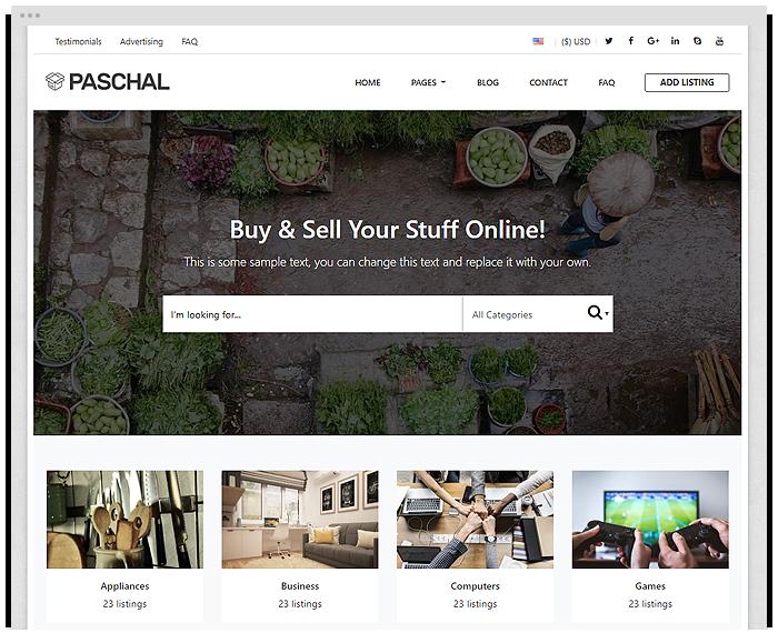 Classifieds – Paschal demo