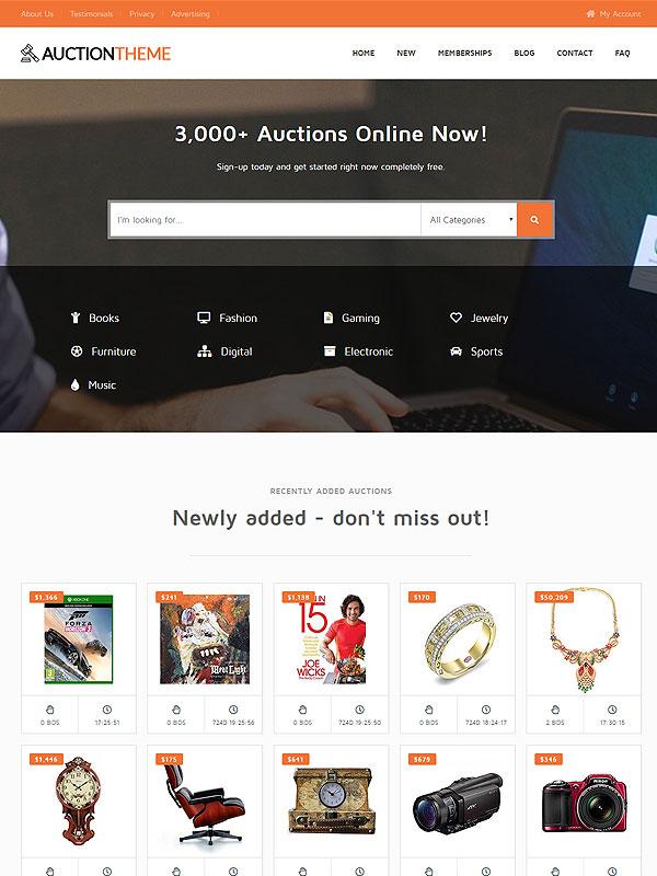 Auction – Orange