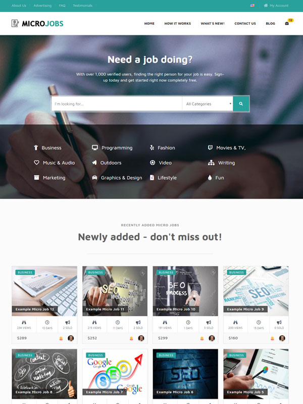 Micro Jobs – Turquoise