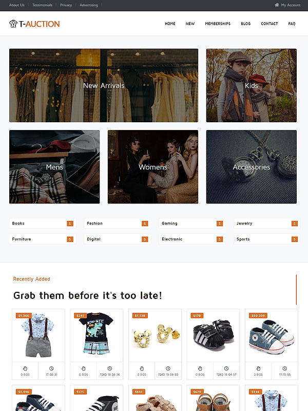 Auction – Clothes