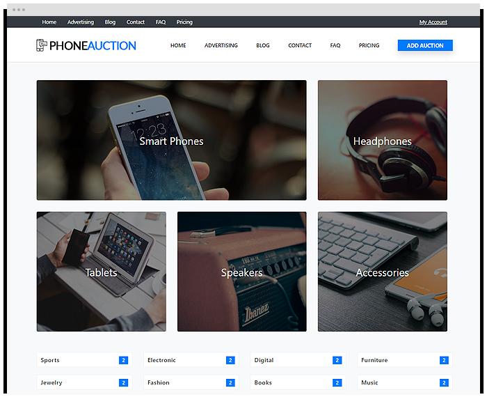 Auctions – Phones demo