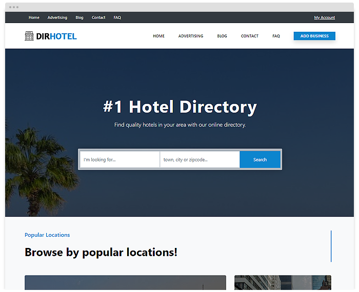 Directory – Hotels demo