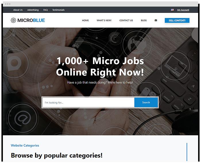 Micro Jobs - Blue