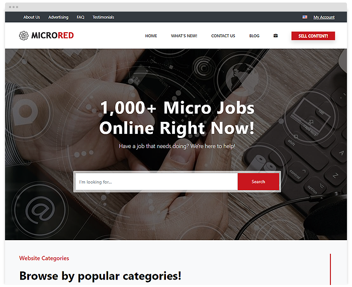 Micro Jobs – Red demo