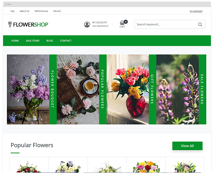 Sell Flowers Online With This Wordpress Template By Premiumpress