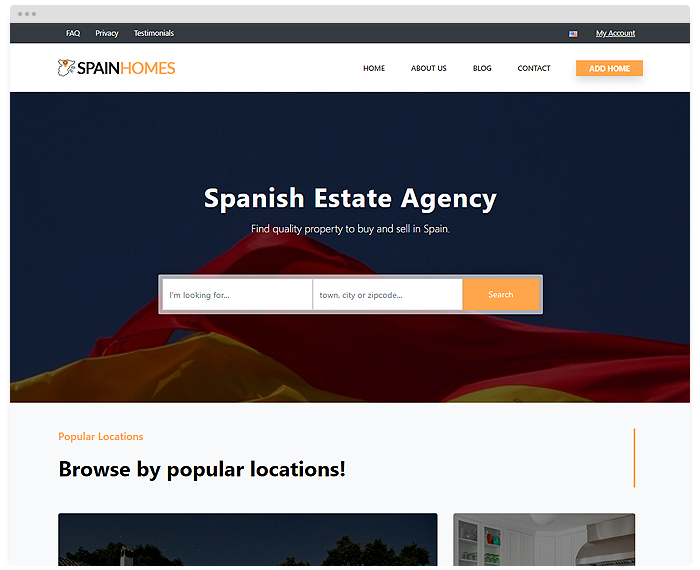 Real Estate – Spain demo