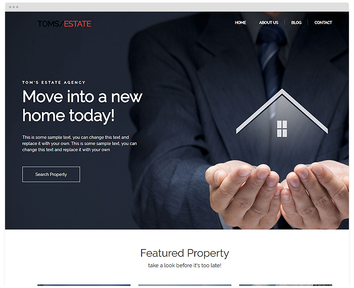 Real Estate – Toms demo