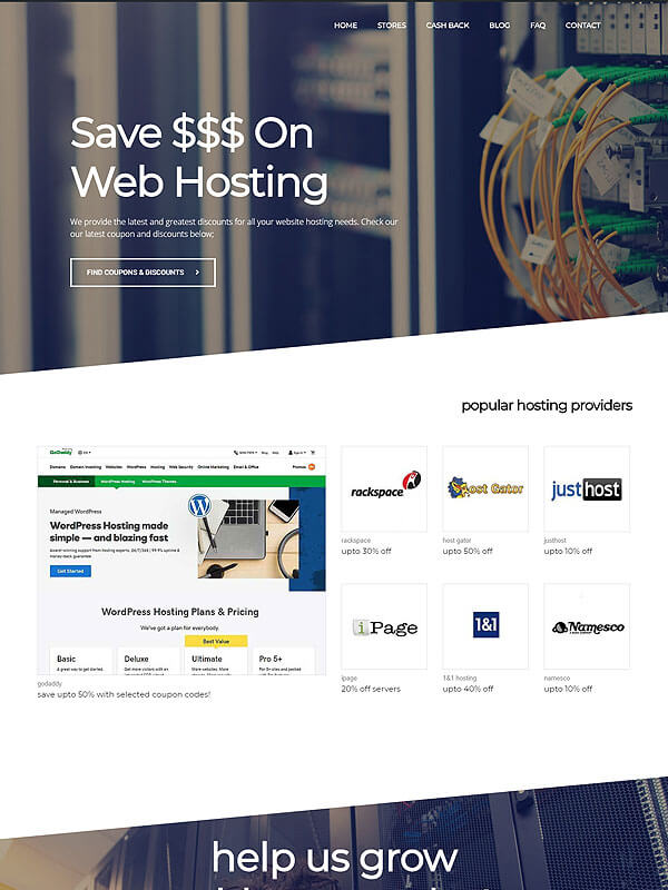 Hosting Coupons Theme