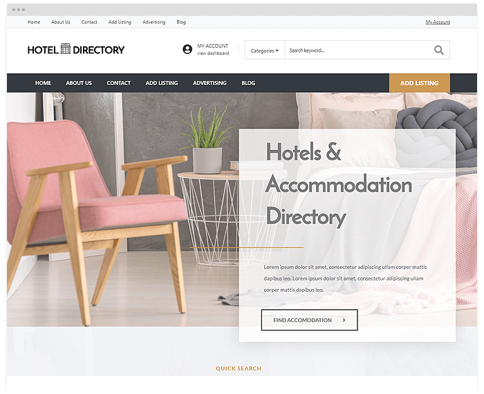 Hotel Directory Theme demo