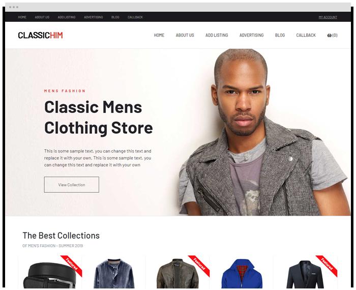Classic Men's Shop demo