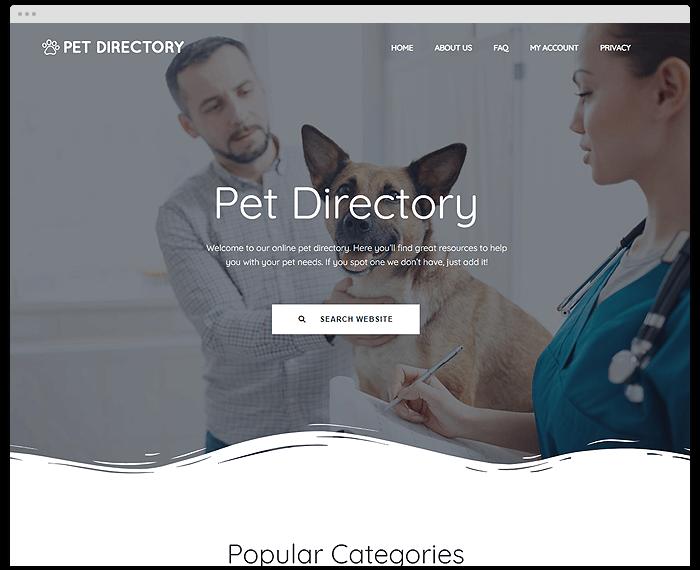 Pet Directory demo