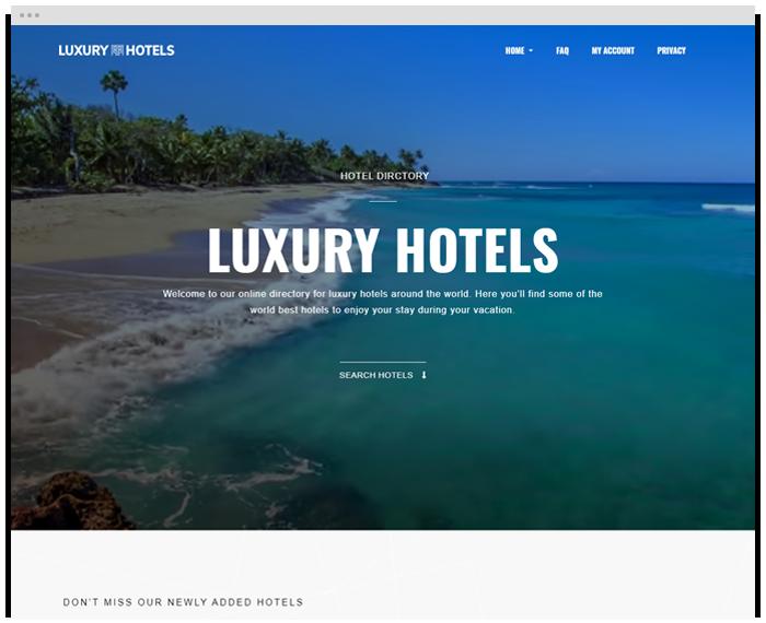 Luxury Hotel Directory demo