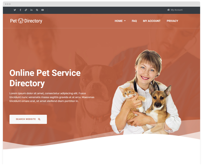Pet Service Directory demo