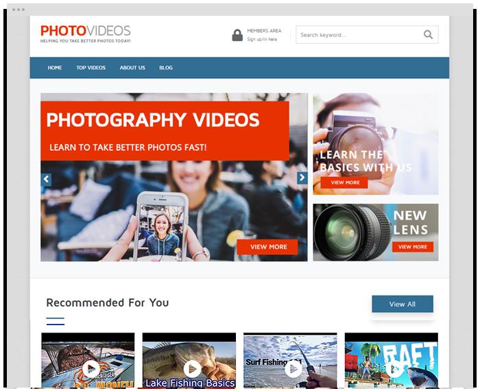 Photography Tutorials demo