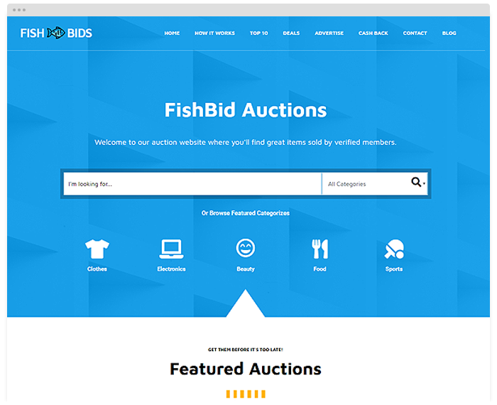 Fish Bids demo