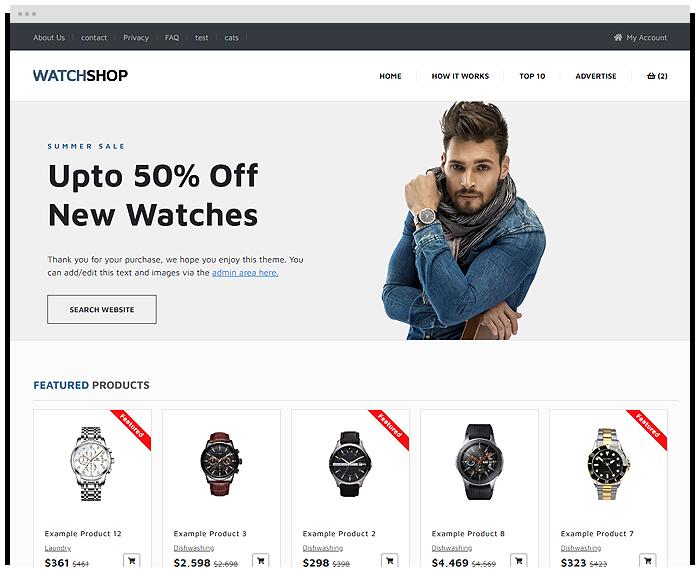 Watch Store demo